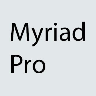 text myriad pro